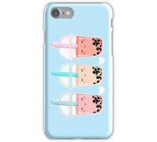 Bubbletea (blue bg) iPhone Case/Skin