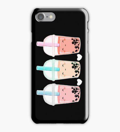Bubbletea (black bg) iPhone Case/Skin