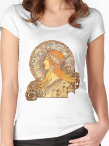 Mucha – Zodiac Women's Fitted Scoop T-Shirt