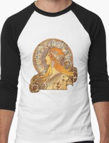 Mucha – Zodiac Men's Baseball ¾ T-Shirt