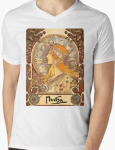 Mucha – Zodiac II Mens V-Neck T-Shirt
