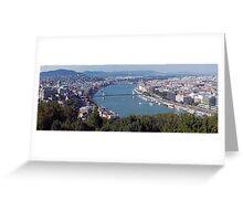 Gellért Hill Viewpoint of Budapest, Hungary Greeting Card