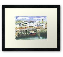 Peel Harbour Isle of Man Framed Print