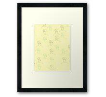 TROYE SIVAN MOSAIC - YELLOW Framed Print
