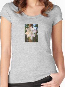 Beautiful Apple Blossom Cluster Women's Fitted Scoop T-Shirt