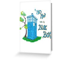 Mad Man with a Blue Box Greeting Card