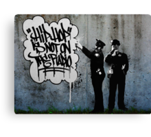 Spray Cops. Canvas Print