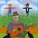 Scarecrow Playing Guitar by SeaSerpent
