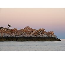 Tidal Markings on Rocks near Silica Beach, Kimberley Photographic Print