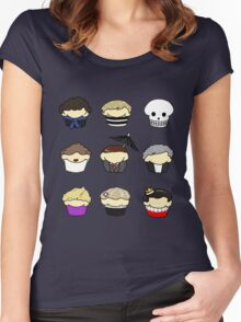 Cupcake!Lock Women's Fitted Scoop T-Shirt