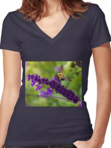Bee 2 Women's Fitted V-Neck T-Shirt