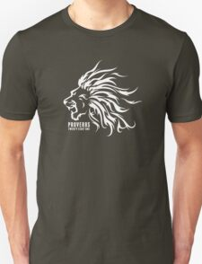 Proverbs 28:1 Ragnar Supporters Lion Raw White T-Shirt