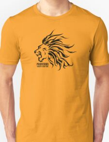 Proverbs 28:1 Ragnar Supporters Lion Raw Black T-Shirt