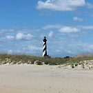 Cape Hatteras Light from the beach by Forget-me-not