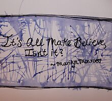 Marilyn Watercolor Quote by Amber Batten