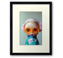 Retro Olive Framed Print