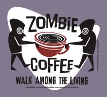 Zombie Coffee Retro T-shirt original design by DKMurphy