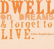 Albus Dumbledore Quote Typography by geekchicprints