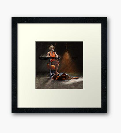 Trophy wife on the Shelf Framed Print