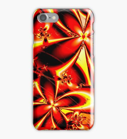 Flaming Red Flowers iPhone Case/Skin