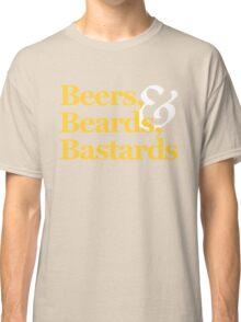 Beers, Beards, & Bastards Show Logo Shirt Classic T-Shirt