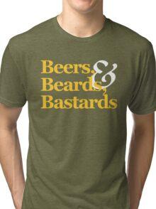 Beers, Beards, & Bastards Show Logo Shirt Tri-blend T-Shirt