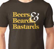 Beers, Beards, & Bastards Show Logo Shirt Unisex T-Shirt