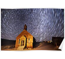 Star Trails at Bodie Poster