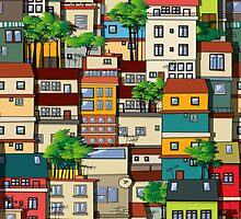 Favela seamless pattern by Richard Laschon