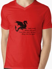 Don't Be Shy Mens V-Neck T-Shirt