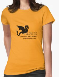 Don't Be Shy Womens Fitted T-Shirt