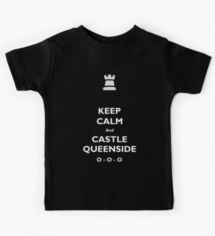 Keep Calm and Castle Queenside Kids Tee
