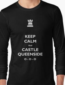 Keep Calm and Castle Queenside Long Sleeve T-Shirt