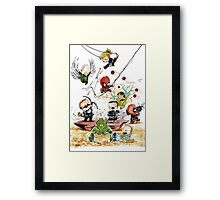 Marvel babies 01 (part 1 of 5) Framed Print