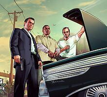 Grand Theft Auto V Poster by Connor  Foley