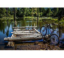 Mountain Biking can take you anywhere! Photographic Print