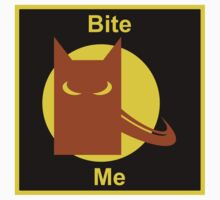 Bite Me (Square Sticker & Throw Pillow) by Kellyanne