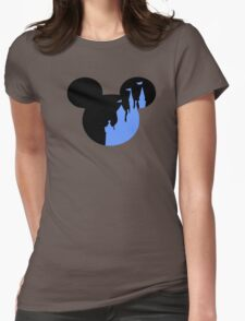 Mickey Castle Womens Fitted T-Shirt