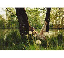 April around the lake Photographic Print