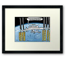 Int'l Space Station Caricature Framed Print