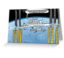 Int'l Space Station Caricature Greeting Card