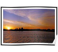 Sunset, Highlands Lake, Craigieburn Poster