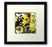 Yellow Japanese Framed Print