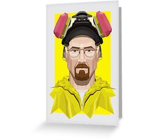 Walter White in Lab Gear Greeting Card