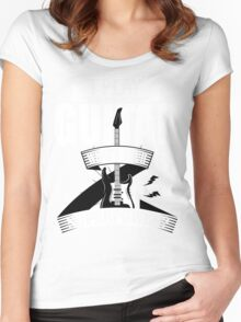 I play guitar - what's your superpower? Women's Fitted Scoop T-Shirt