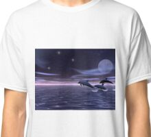 Dolphin Moon Classic T-Shirt