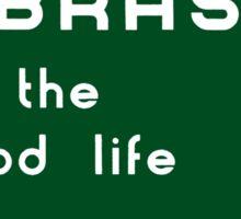 Welcome to Nebraska, Road Sign, USA  Sticker