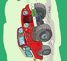 Jeepster Commando C101 cartoon (2) by RFlores