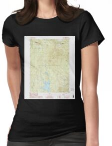 USGS Topo Map  Vermont VT Stratton Mtn 337671 1986 24000 Womens Fitted T-Shirt