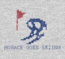 Vintage Look Retro Arcade Horace Goes Skiing Baby Tee